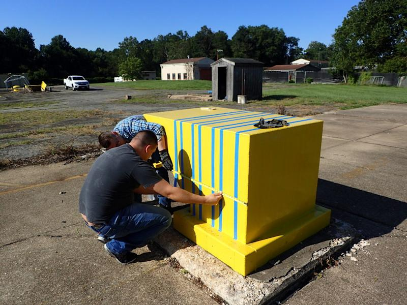 Civil Air Patrol, United States Air Force Auxiliary worked on restoring the Nike Missile Site in December 2019. Photo by: Nike Missile Site Restoration Project.