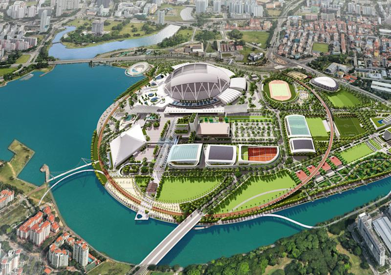 The proposed Kallang Alive precinct (INFOGRAPHIC: Sport Singapore)