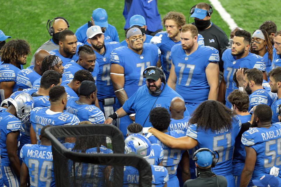 Detroit Lions head coach Matt Patricia has connected more with players since his first year, they said. (Photo by Jorge Lemus/NurPhoto via Getty Images)