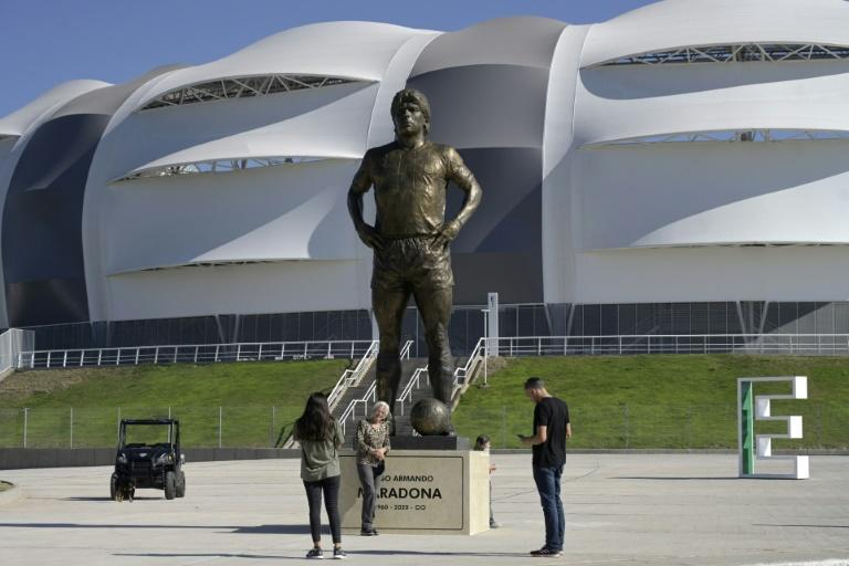 The late football star Diego Maradona is an idol to millions of Argentines