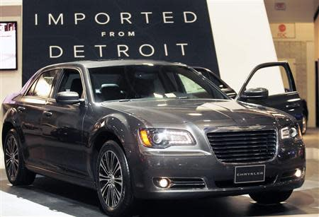 A 2013 Chrysler 300 sedan is seen at the Washington Auto Show