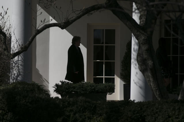 <p>Steve Bannon, then chief strategist to President Donald Trump, at the White House in Washington, Feb. 24, 2017. He left his position on Aug. 18, 2017. (Photograph by Al Drago/The New York Times) </p>