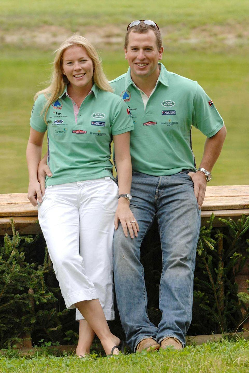 <p>Princess Anne's son, Peter Phillips, proposed to his Canadian girlfriend Autumn Kelly in 2007. The couple, pictured here at the Festival of British Eventing at Gatcombe Park, were later married at St. George's Chapel in Windsor Castle. </p>