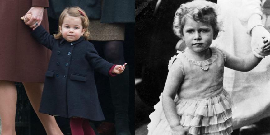 Both Princess Charlotte and the Queen have their chill faces down to a tee.