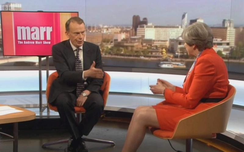 Theresa May on the Andrew Marr Show - Credit: BBC/Andrew Marr Show