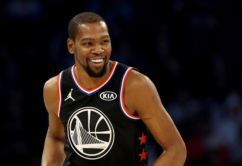 Kevin Durant won his second All-Star game MVP award on Sunday. (Getty)