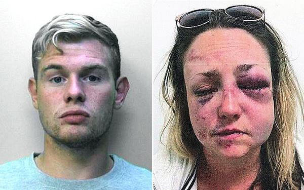 Matthew Johnson was sentenced at Brighton Crown Court after being found guilty of using a noxious substance to cause grievous bodily harm and sexual assault.