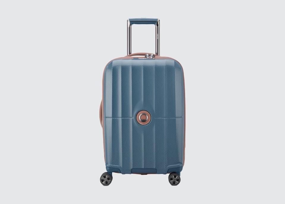 "<p>""Delsey's suitcases are inexpensive, lightweight, and have great wheels. They're also French—and all that implies."" <em>—</em><a href=""https://www.cntraveler.com/contributor/richard-bruce-turen?mbid=synd_yahoo_rss"" rel=""nofollow noopener"" target=""_blank"" data-ylk=""slk:Richard Bruce Turen"" class=""link rapid-noclick-resp""><em><strong>Richard Bruce Turen</strong></em></a><em>, owner and managing director, Churchill & Turen LTD</em></p> <p><strong>Shop now:</strong> <a href=""https://shop.delsey.com/luggage/all"" rel=""nofollow noopener"" target=""_blank"" data-ylk=""slk:delsey.com"" class=""link rapid-noclick-resp"">delsey.com</a></p>"