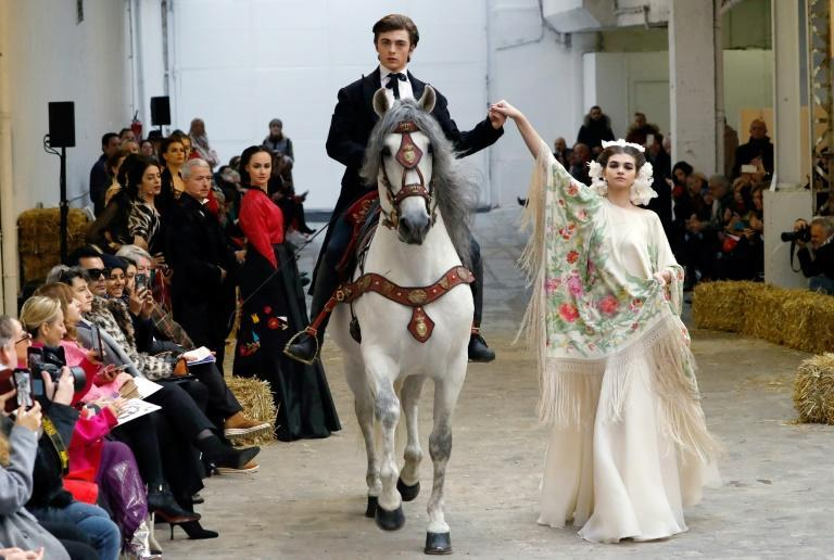 Ole! French designer Franck Sorbier Paris haute couture show featured horses and Mexican-inspired looks