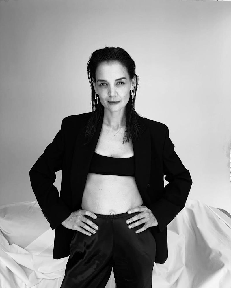 Katie Holmes shows off behind-the-scenes, unedited snapshots from a shoot with Vogue Australia. (Photo: Katie Holmes via Instagram/Vogue Australia)