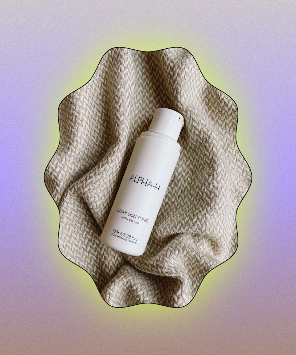 """No one knows skincare acids like Alpha-H. The star ingredients in this exfoliating toner are <a href=""""https://www.refinery29.com/en-gb/salicylic-acid"""" rel=""""nofollow noopener"""" target=""""_blank"""" data-ylk=""""slk:salicylic acid"""" class=""""link rapid-noclick-resp"""">salicylic acid</a> and <a href=""""https://www.refinery29.com/en-gb/tea-tree-acne-spots"""" rel=""""nofollow noopener"""" target=""""_blank"""" data-ylk=""""slk:tea tree"""" class=""""link rapid-noclick-resp"""">tea tree</a>, which gives the product a slightly medicinal smell. Salicylic acid is kind to skin but exfoliates deep inside pores to prevent spots and blackheads, while tea tree is antibacterial. Used every other night, it helped keep my hormonal whiteheads under control and worked wonders to smooth out my skin texture, all without stinging like similar <a href=""""https://www.refinery29.com/en-gb/best-liquid-exfoliator"""" rel=""""nofollow noopener"""" target=""""_blank"""" data-ylk=""""slk:exfoliating toners"""" class=""""link rapid-noclick-resp"""">exfoliating toners</a> I've tried. For me, applying products like these with a cotton pad can be a waste and I always end up with cotton fibres on my skin. Instead, I patted it on with my fingertips (you can follow with moisturiser) and I'm certain this yielded better results! <br><br><strong>Alpha-H</strong> Clear Skin Tonic, $, available at <a href=""""https://www.cultbeauty.co.uk/alpha-h-clear-skin-tonic-.html"""" rel=""""nofollow noopener"""" target=""""_blank"""" data-ylk=""""slk:Cult Beauty"""" class=""""link rapid-noclick-resp"""">Cult Beauty</a>"""