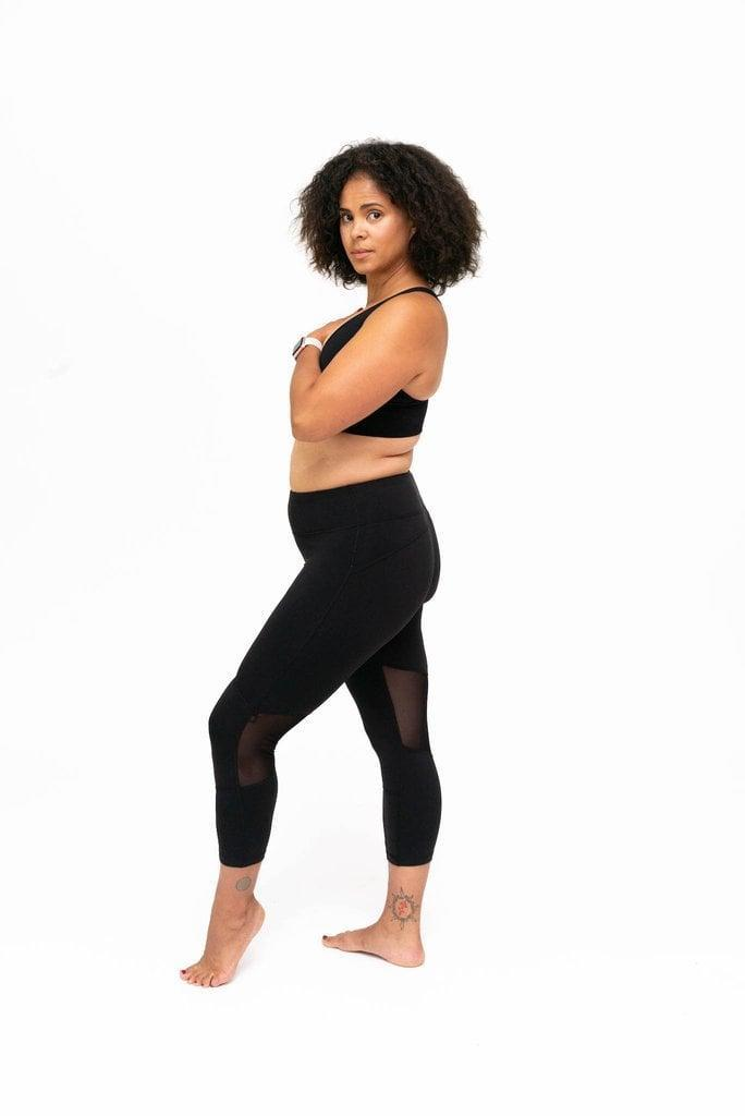 <p>Want a little detail on your black leggings? <span>Dear Kate Go Commando Yoga Leggings in Black</span> ($35) feature sheer mesh panels behind the knees. </p>
