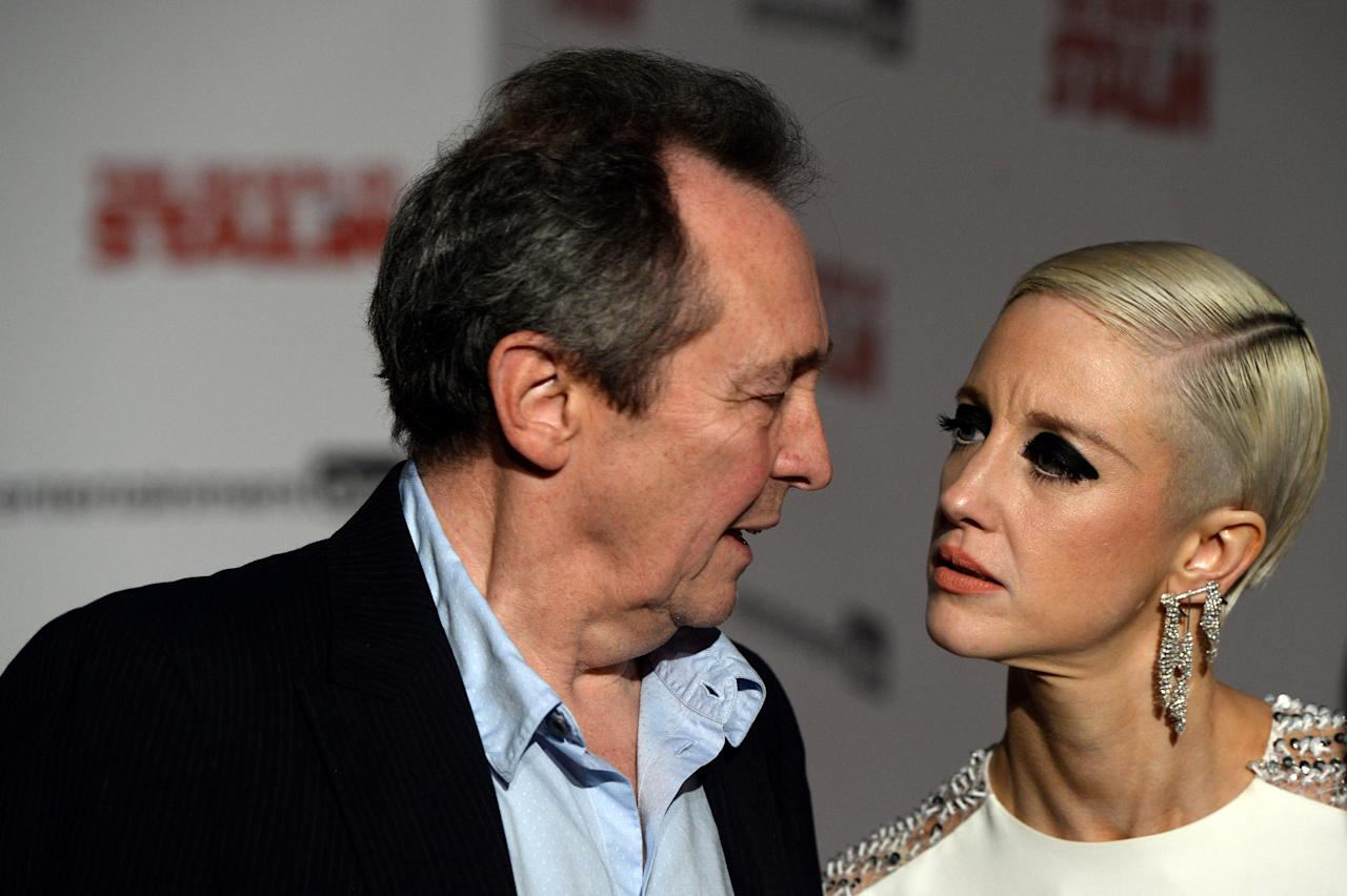 Actors Paul Whitehouse and Andrea Riseborough arrive for the UK premiere screening of 'The Death of Stalin', at the Curzon, Chelsea in London, Britain, October 17, 2107. REUTERS/Mary Turner