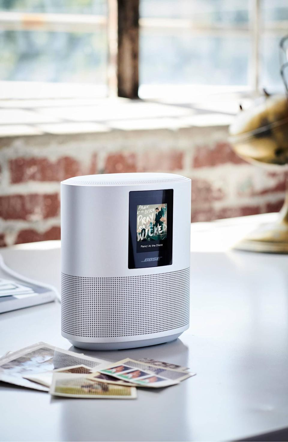 <p>The <span>Bose Home 500 Bluetooth Speaker</span> ($299, originally $399) is sleek and sophisticated, and you'll be able to hear your favorite music loud and clear.</p>