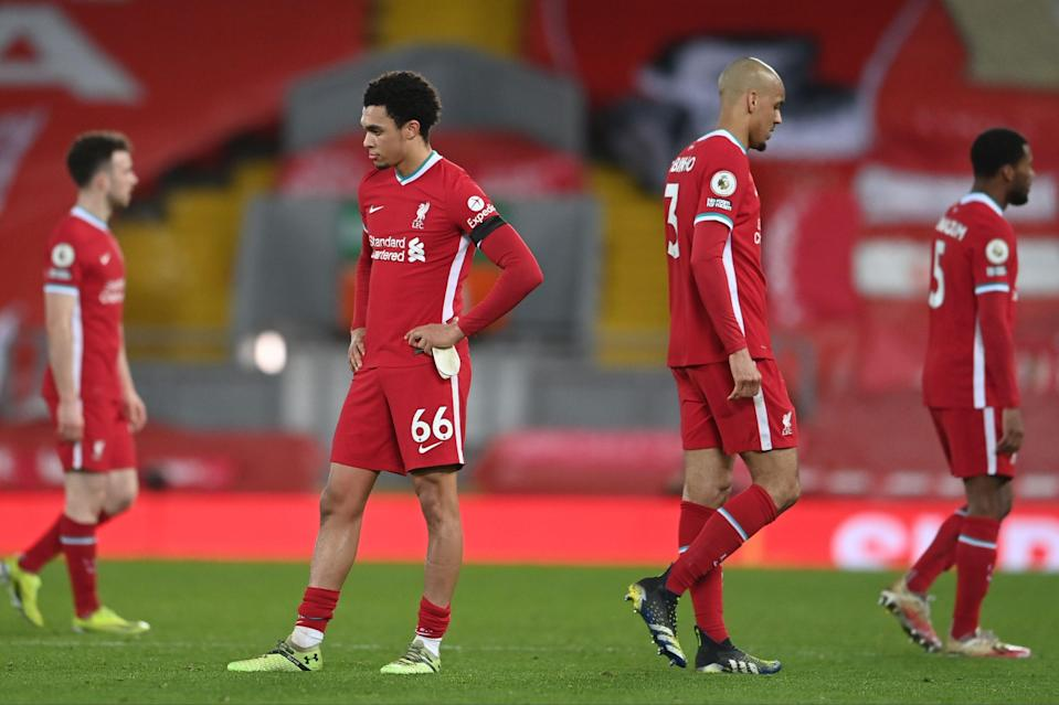 <p>An unwanted record for Liverpool</p> (POOL/AFP via Getty Images)