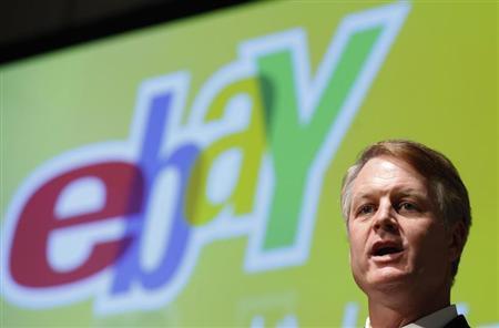 eBay Inc President and CEO Donahoe speaks during a news conference in Tokyo