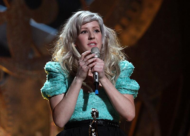 Ellie Goulding with the Critics' Choice Award during the BRIT Awards 2010, at Earls Court, London. (Photo by Yui Mok/PA Images via Getty Images)
