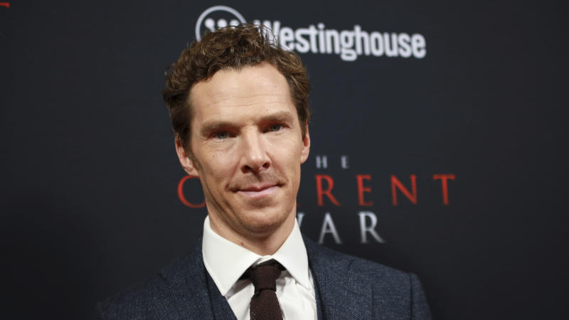 "Benedict Cumberbatch attends the premiere for NY Premiere of ""The Current War: Director's Cut"" at AMC Lincoln Square on Monday, Oct. 21, 2019, in New York. (Photo by Jason Mendez/Invision/AP)"