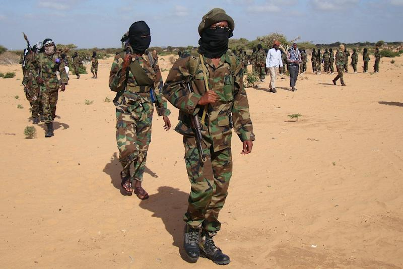 Radical islamist Shebab fighters have in recent months carried out several similar raids on police posts in rural areas controlled by the group near the Somali border (AFP Photo/Mohamed Abdiwahab)