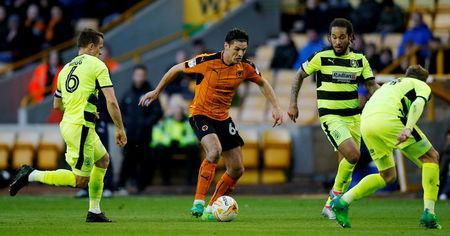 Britain Football Soccer - Wolverhampton Wanderers v Huddersfield Town - Sky Bet Championship - Molineux - 25/4/17Wolves' Ben Marshall in actionMandatory Credit: Action Images / Andrew CouldridgeLivepic