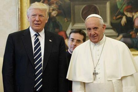 U.S. President Donald Trump and Pope Francis meet at the Vatican
