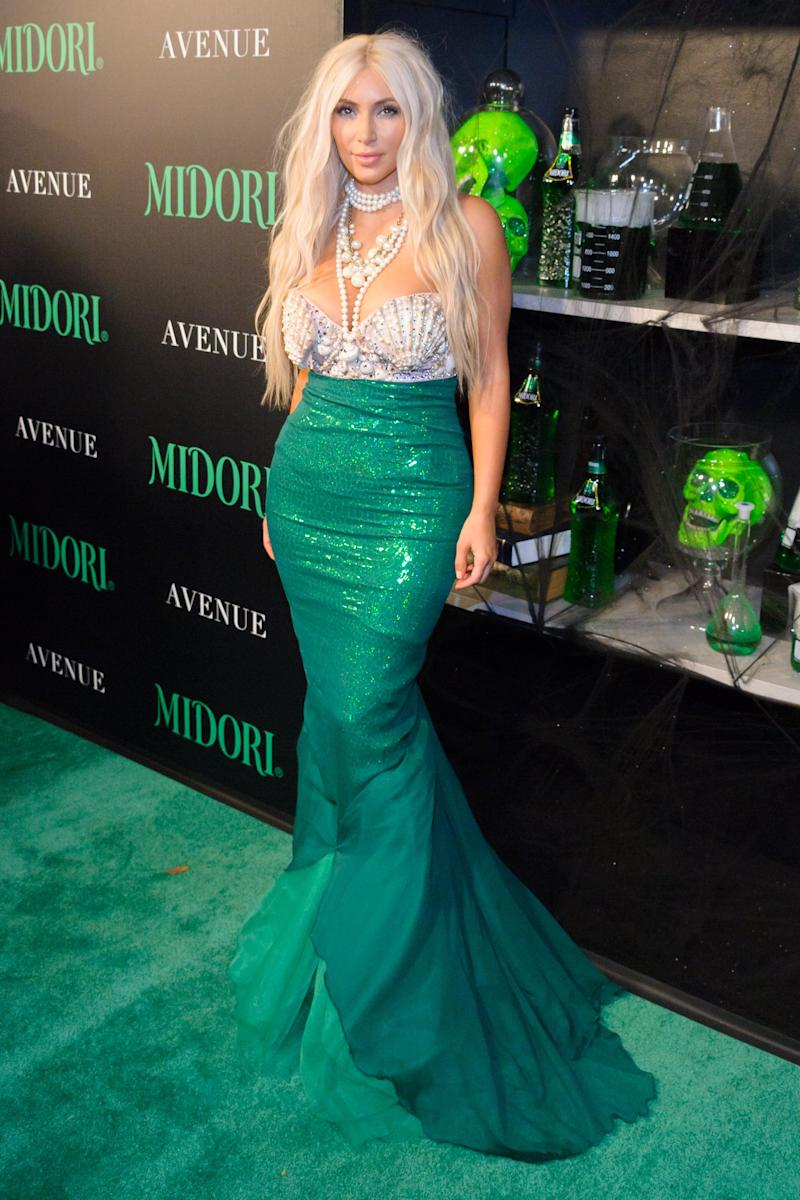 Kim Kardashian attends the 2nd annual Midori Green Halloween Party at Avenue on October 27, 2012 in New York City. Photo courtesy of Getty Images.