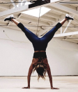 """<p>Halle blew fans away when she posted this handstand photo on <a href=""""https://www.instagram.com/p/BmTjHOqAOXh/"""" rel=""""nofollow noopener"""" target=""""_blank"""" data-ylk=""""slk:Instagram"""" class=""""link rapid-noclick-resp"""">Instagram</a>, and she said doing handstands has really helped her. """"Recently, I started doing <a href=""""https://www.instagram.com/explore/tags/handstands/"""" rel=""""nofollow noopener"""" target=""""_blank"""" data-ylk=""""slk:#handstands"""" class=""""link rapid-noclick-resp"""">#handstands</a> with <a href=""""https://www.instagram.com/explore/tags/donkeykicks/"""" rel=""""nofollow noopener"""" target=""""_blank"""" data-ylk=""""slk:#donkeykicks"""" class=""""link rapid-noclick-resp"""">#donkeykicks</a> and I noticed my upper body got stronger and more defined,"""" she wrote.</p>"""