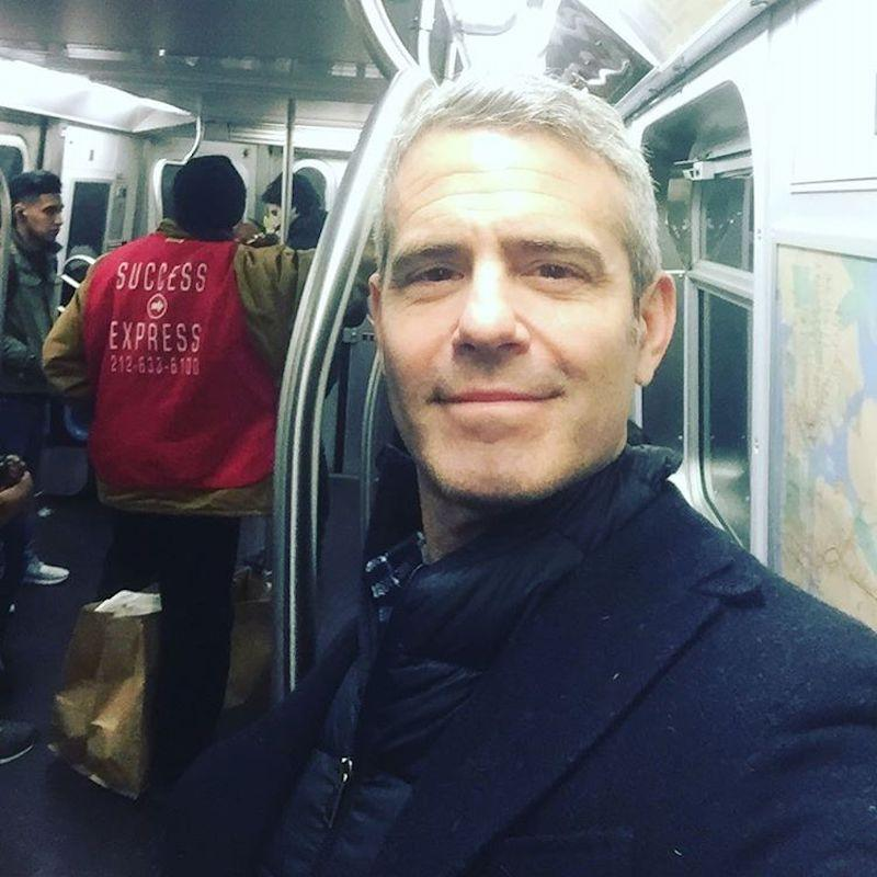 """<p>The <i>Watch What Happens Live</i> host opted for some New York humor on Valentine's Day. """"Nothing says Valentine's Day like an F Train that smells like pee! Have a great day! ????,"""" he captioned this snap of him riding the subway. """"#SuccessExpress."""" (Photo: <a rel=""""nofollow noopener"""" href=""""https://www.instagram.com/p/BQgLKYFFP_3/?taken-by=bravoandy"""" target=""""_blank"""" data-ylk=""""slk:Instagram"""" class=""""link rapid-noclick-resp"""">Instagram</a>) </p>"""