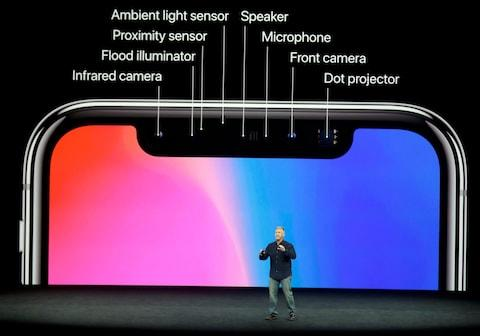 The technology in the iPhone X's Face ID - Credit: AP