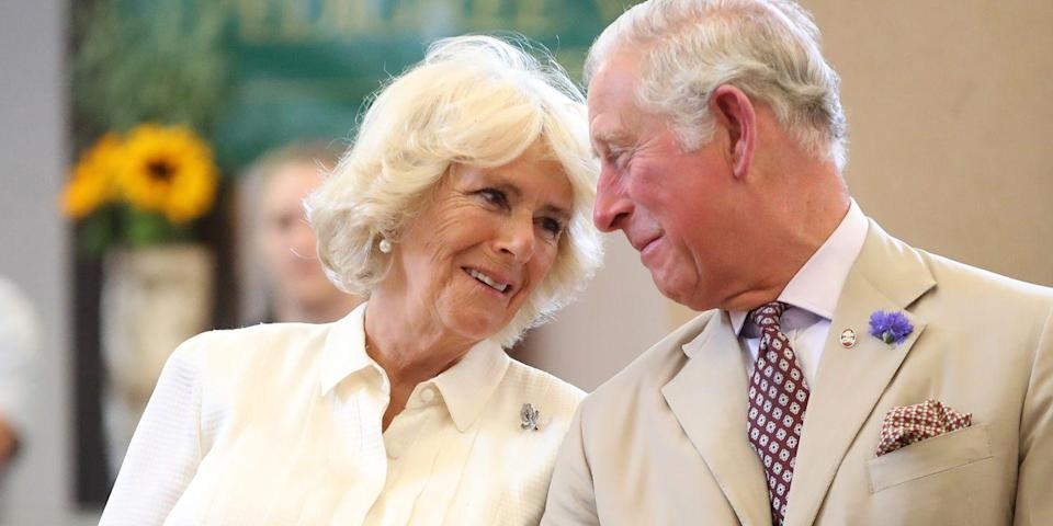 <p>Talking to Camilla at the reopening of The Strand Hall in Wales. </p>