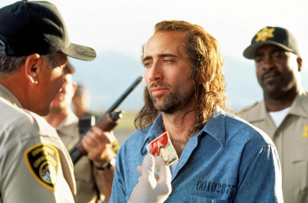 """<a href=""""http://movies.yahoo.com/movie/1800285442/info"""">CON AIR</a> -- The Bleached Blonde Billy Bob    If the director wanted to give Nic Cage the aura of honor, resourcefulness, and loyalty, why did he give him a haircut that would embarrass a bottom-feeding pro-wrestler?"""