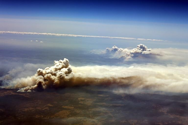 Bushfires burn out of control in Richmond Valley, New South Wales in November 2019