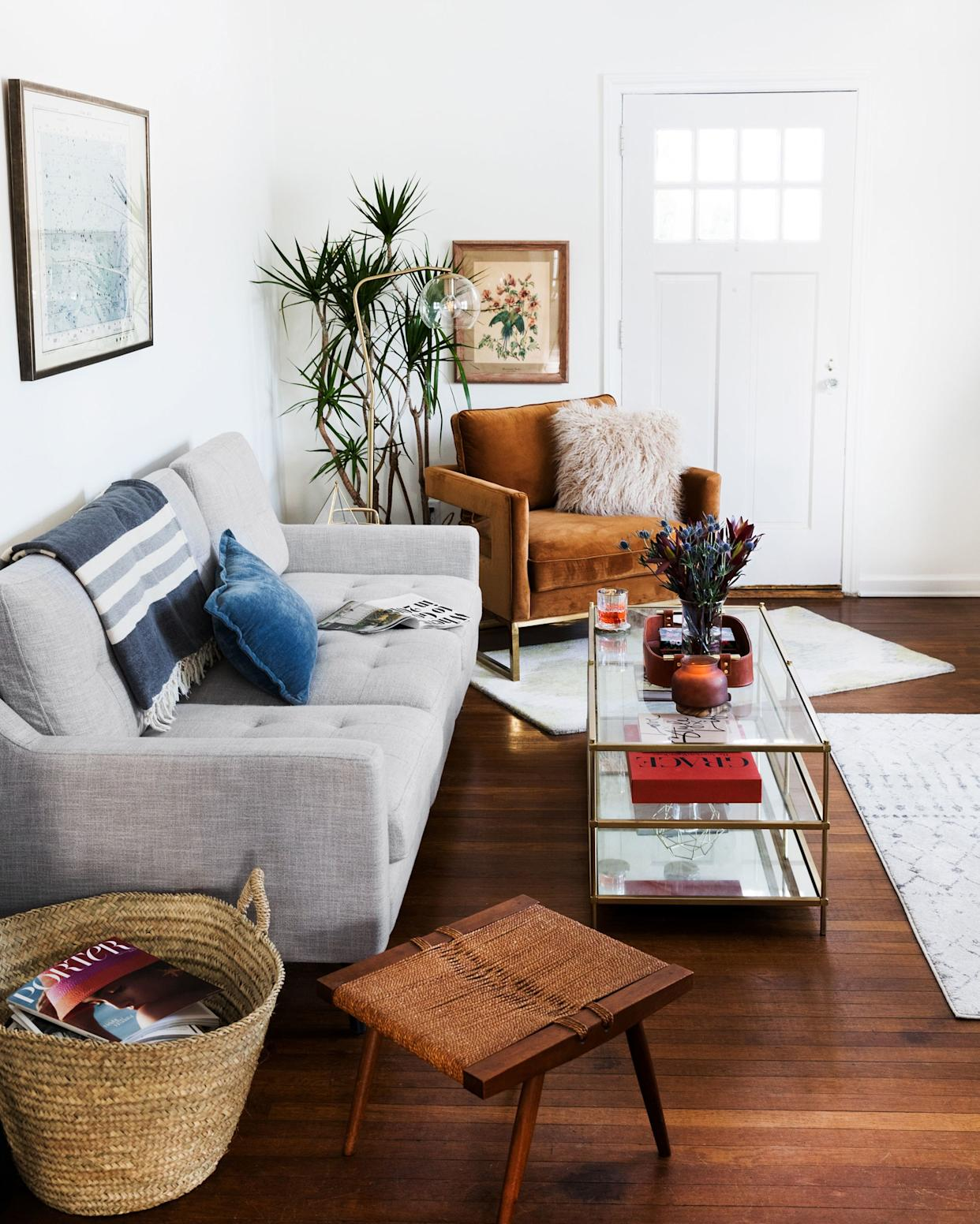 """<div class=""""caption""""> After: Fully restored floors in the living room! </div> <cite class=""""credit"""">Photo: Jillian Guyette</cite>"""