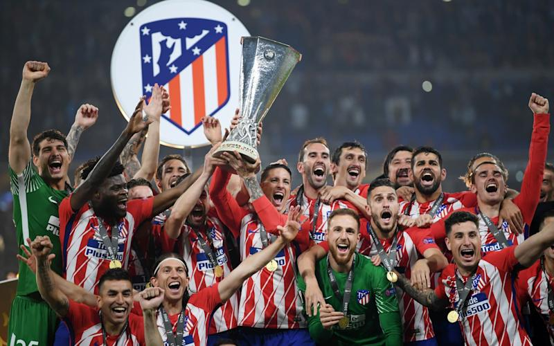 Atletico Madrid celebrate winning the Europa League - Getty Images Europe