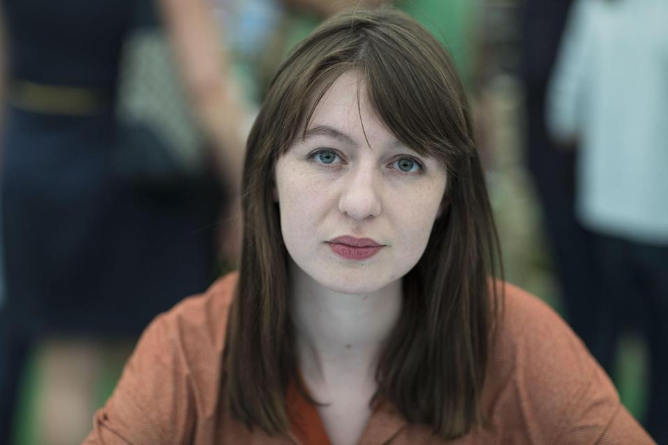 HAY ON WYE, UNITED KINGDOM - MAY 28:  Sally Rooney, novelist, at the Hay Festival on May 28, 2017 in Hay on Wye, United Kingdom.  (Photo by David Levenson/Getty Images)