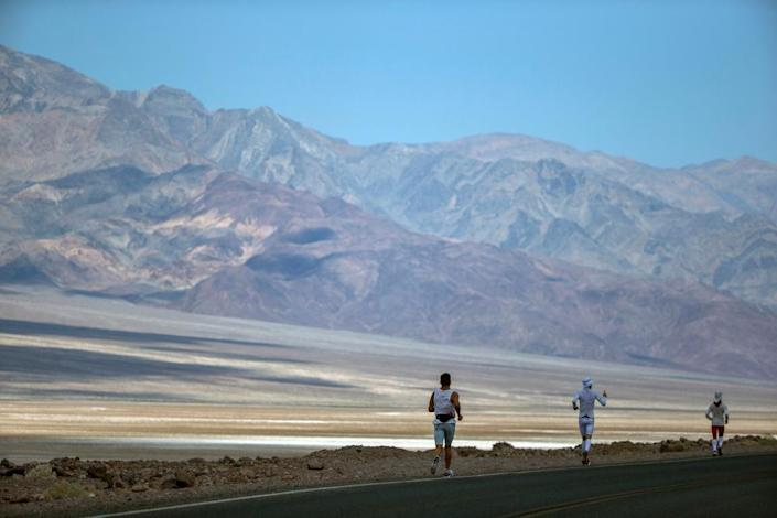 The ultramarathon, which bills itself as the world's toughest foot race, goes from Death Valley to Mt Whitney in California.