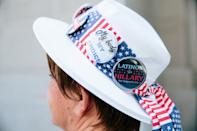 One of the colorful hats seen on the convention floor.