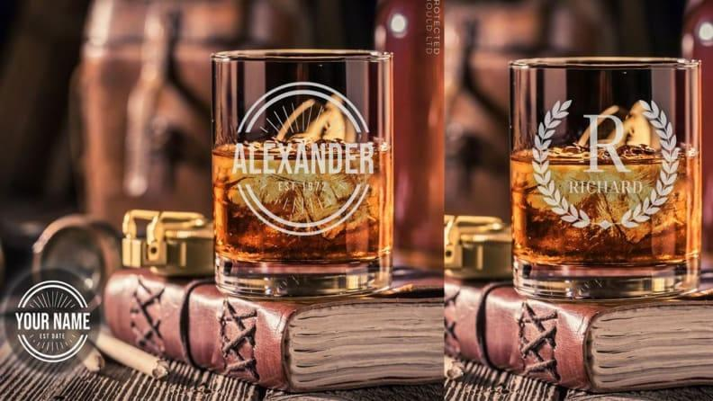 Best personalized grad gifts: Whisky glasses