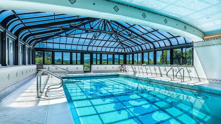 The heated pool with a retractable roof. - Credit: Photo: Courtesy of Francois Gagne