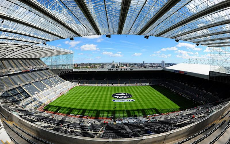 Newcastle's home ground St James' Park - PA