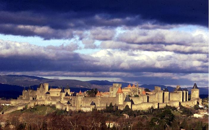 A general view of the city of Carcassonne, target of an alleged plot to attack American and Russian tourists (AFP Photo/Pascal Pavani)