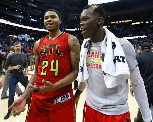 Can Kent Bazemore and Dennis Schröder make the difference for Atlanta? (AP)
