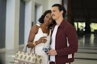 <p>When Molly touches down in Mexico for vacation with Andrew, they are taking in the view - but our eyes go straight to her Nanushka bodysuit and wide-leg pants. Oh, and that Christian Dior tote.</p>
