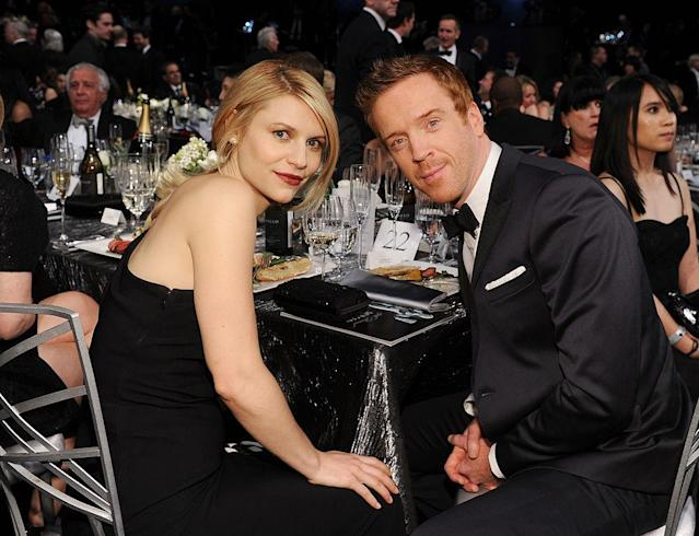 "Claire Danes and Damian Lewis were not the first choice for either of their lead roles in ""Homeland."" (Photo: Dimitrios Kambouris/WireImage)"