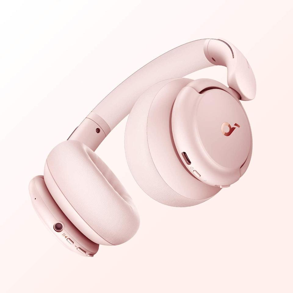 <p>Upgrade their headphones with these stylish and pretty-in-pink <span>Soundcore by Anker Life Q30 Hybrid Active Noise Cancelling Headphones</span> ($90). It has 40 hours of playtime in one charge, a comfortable fit and has multiple modes of hearing including active noise canceling and ambient noise. </p>