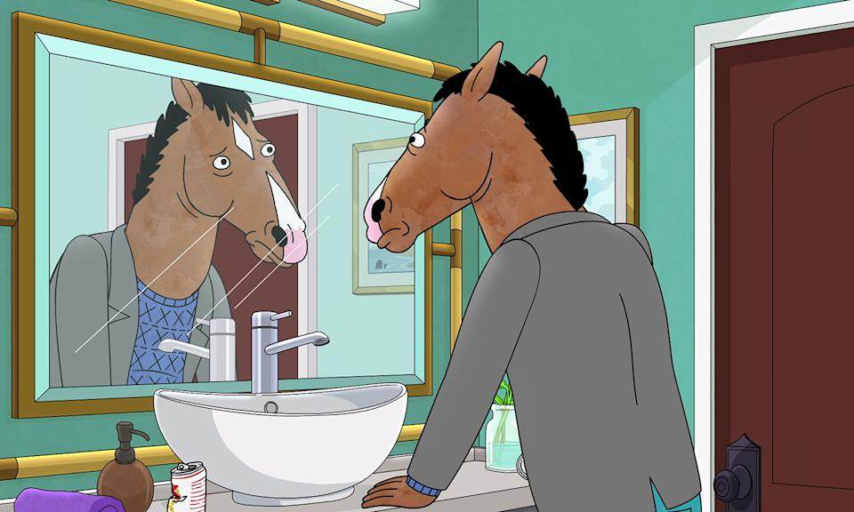 "The adventures of the troubled former star was met with huge acclaim over its past five series as <em>Bojack Horseman</em> got to grips with some dark subject matter, all the while interspersing plenty of witty dialogue and animal puns - but its sixth season is its last. Todd star Aaron Paul took to Twitter earlier in the year to suggest it was <a href=""https://www.independent.co.uk/arts-entertainment/tv/news/bojack-horseman-netflix-cancelled-aaron-paul-final-season-watch-a9126831.html"" rel=""nofollow noopener"" target=""_blank"" data-ylk=""slk:Netflix's decision to &quot;close the curtains&quot;"" class=""link rapid-noclick-resp"">Netflix's decision to ""close the curtains""</a> on the beloved cartoon. The sixth series has been split into two halves, with the first part launching in October while it finally comes to an end in January 2020. (Netflix)"