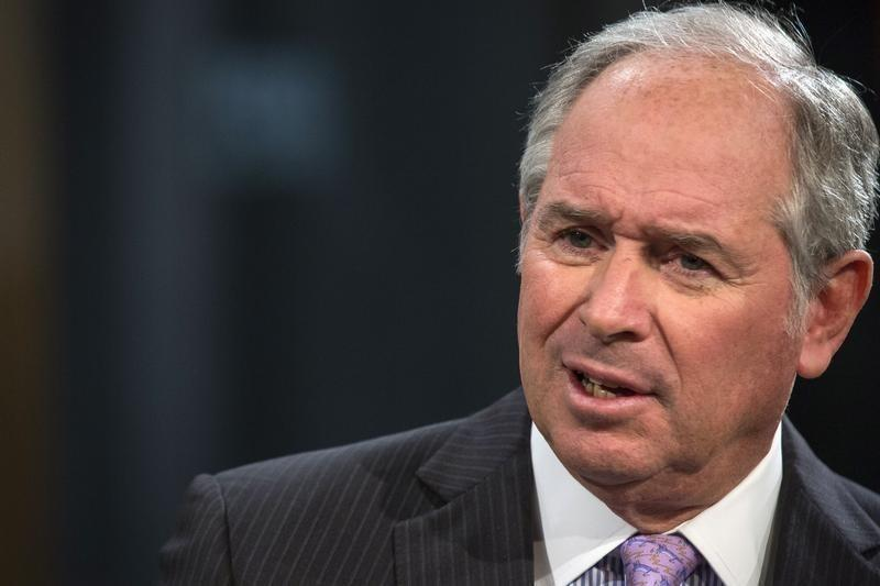 """Schwarzman, Chairman and CEO of The Blackstone Group, speaks during an interview with Bartiromo, on her Fox Business Network show; """"Opening Bell with Maria Bartiromo"""" in New York"""