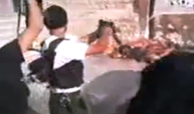 This image made from amateur video released by Tabshoor1 and accessed Tuesday, July 31, 2012, purports to show Free Syrian Army soldiers executing Assad loyalists in Aleppo, Syria. A gruesome video apparently showing rebels gunning down Assad loyalists in Aleppo this week has fueled concerns that opposition fighters in Syria are capable of brutality that matches that of the regime they are fighting to topple. (AP Photo/Tabshoor1 via AP video) THE ASSOCIATED PRESS IS UNABLE TO INDEPENDENTLY VERIFY THE AUTHENTICITY, CONTENT, LOCATION OR DATE OF THIS HANDOUT PHOTO