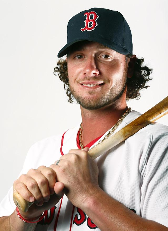 FORT MYERS, FL - FEBRUARY 17: Jarrod Saltalamacchia #39 of the Boston Red Sox poses for a portrait on February 17, 2013 at JetBlue Park at Fenway South in Fort Myers, Florida. (Photo by Elsa/Getty Images)