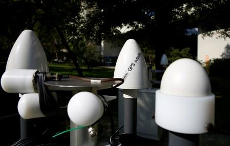 FILE PHOTO: Antennas of the testing facility for seismic and infrasound technologies of the CTBTO are seen in Vienna
